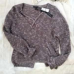 Express speckled sweater.